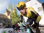 Der Slowene Primoz Roglic gewinnt wie schon im Jahr zuvor die Tour de Romandie (Bild: KEYSTONE/LAURENT GILLIERON)