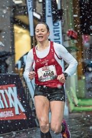 Barbara Jurt gewinnt mit über drei Minuten Vorsprung. (Bild: Pius Amrein, 4. Mai 2019)