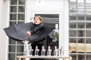 Die Performance von Mahtola Wittmer passte perfekt zum Wetter. (Bild: Luis Hartl / Akku, 4. Mai 2019)