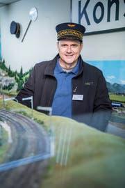Alex Scheidmannvom Modelleisenbahnclub Kreuzlignen(Bild: Andrea Stalder)