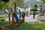 Seit vergangener Woche ist der Generationen-Spielplatz Kappeli in Betrieb. (Bild: Heini Schwendener)