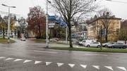 Der neue HSG-Campus soll auf dem Areal hinter dem Stadtsanktgaller Verkehrsknoten Platztor entstehen. Die Stimmberechtigten des Kantons entscheiden am 30. Juni über das Projekt. (Bild: Hanspeter Schiess - 27. November 2018)