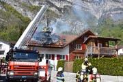 Die Feuerwehr konnte das Feuer schnell löschen. (Bild: Kapo)