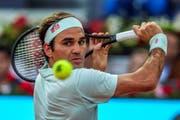 Roger Federer kehrte nach drei Jahren Absenz auf souveräne Weise auf die Sand-Unterlage zurück (Bild: Juanjo Martin / EPA, Madrid, 7. Mai 2019)