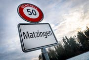 Die Ortstafel der Gemeinde Matzingen. (Bild: Andrea Stalder)