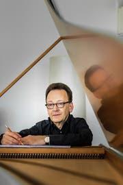 Ein musikalischer Allrounder: Der St.Galler Dirigent, Komponist und Organist Rudolf Lutz. (Bild: Michel Canonica (St. Gallen, 29. März 2017))