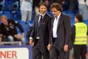 Da waren sie noch Freunde: Der beurlaubte FC-Sion-Trainer Murat Yakin und Sion-Präsident Christian Constantin. (Bild: freshfocus)