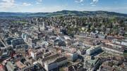 Die Stadt St.Gallen ist am Freitag, 18.15 Uhr, Gast in der SRF1-Sendung «Mini Schwiiz, dini Schwiiz». (Bild: Ralph Ribi - 10. April 2017)