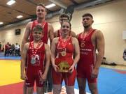 Die fünf Medaillengewinner der RSK: (hinten v.l.) Tobias Betschart, Daniel Loher, Marc Dietsche, (vorne v.l.) Sandro Hungerbühler und Fabienne Wittenwiler. (Bild: PD)