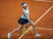 In Madrid bisher äusserst souverän unterwegs: Belinda Bencic steht in der spanischen Hauptstadt im Viertelfinal (Bild: KEYSTONE/EPA EFE/JUANJO MARTIN)