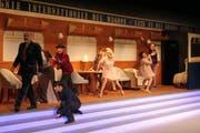 Turbulente Szene aus der Musical Probe in der Lokremise Buchs. (Bild: Esther Wyss)
