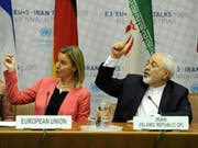 Die am Atomabkommen mit dem Iran beteiligten europäischen Staaten und EU-Aussenbeauftragte Federica Mogherini (links) haben das von Teheran gestellte Ultimatum zurückgewiesen. (Bild: KEYSTONE/EPA APA/HERBERT NEUBAUER)