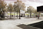 Eine Visualisierung des neuen Letten-Schulhauses. (Bild: PD)