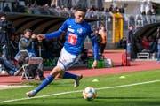 Der schnelle und agile FCL-Offensivspieler Ruben Vargas wird auch von Nationaltrainer Vladimir Petkovic beobachtet. (Bild: Martin Meienberger/Freshfocus (Lugano, 5. Mai 2019))