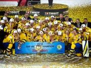 Im Vorjahr sicherte sich Schweden den WM-Titelgewinn im Final erst im Penaltyschiessen gegen die Schweiz (Bild: KEYSTONE/EPA SCANPIX DENMARK/LISELOTTE SABROE)