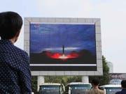 Nordkorea soll laut südkoreanischen Angaben erneut mehrere Projektile zu Testzwecken abgefeuert haben. (Bild: KEYSTONE/AP/KIM KWANG HYON)