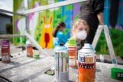 Am letztjährigen Mädchentag in Mels stand ein Graffiti-Workshop auf dem Programm. (Bild: PD)