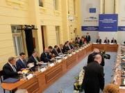 Am informellen EU-Gipfel in Rumänien beschworen die Staats- und Regierungschefs am Donnerstag in einer Erklärung den «Geist von Sibiu und einer neuen Union der 27». (Bild: KEYSTONE/EPA POOL/OLIVIER HOSLET / POOL)