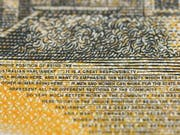 Rechtschreibfehler auf einer 50-Dollar-Note in Australien: «Responsibilty» statt «responsibility» steht in kleinen Lettern geschrieben. (Bild: KEYSTONE/EPA AAP/DYLAN COKER)