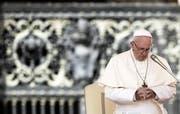 Papst Franziskus in Rom. Bild: Angelo Carconi/EPA (Rom, 29. August 2018)