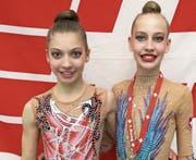 Lea Schefer (links), RG Berneck, und Anastasia Weder, RG Diepoldsau-Schmitter. (Bild: pd)