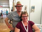 Für Daniela und Walti Vogel aus Buochs ist die Iheimisch ein Ort, wo man viele bekannte Gesichter trifft. «Es ist einfach etwas Einmaliges und die Aussteller geben sich alle viel Mühe.» (Bild: Fabienne Mühlemann/Luzerner Zeitung, 1. Juni 2019)