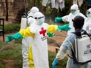 Neben Ebola-Fällen ist die Demokratische Republik Kongo nunmehr auch von einer Masern-Epidemie betroffen. (Bild: KEYSTONE/EPA IFRC/MARIA SANTTO / FINNISH RED CROSS / IFRC HANDOU)