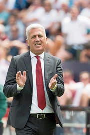 Nationaltrainer Vladimir Petkovic: «Unser Jahr war gut bis sehr gut.» (Bild: Jean-Christophe Bott/Keystone (Guimarães, 9. Juni 2019))