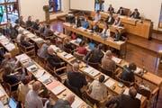 Blick von der Besuchertribüne ins St.Galler Stadtparlament. (Bild: Adriana Ortiz Cardozo - 21. Mai 2019)