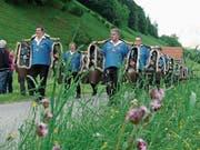 Der Schellner-Umzug verwandelte am Samstag das Obertoggenburg in ein Fest der Klänge. (Bild: Franz Steiner)