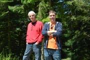 Die Filmemacher Roman Ramsauer und Moritz «Zane» Liechti. (Bild: Alessia Pagani)