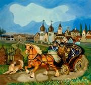 Die Ausschaffung von Antonio Ligabue aus St.Gallen, wie er sie selber 1959/60 malte. (Bild: PD)