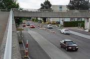 Es können wieder beide Spuren auf der Romanshornerstrasse benutzt werden. (Bild: Roger Fuchs (11. Juni 2019)