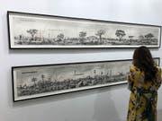 Im Kunstmuseum Basel und an der Art Basel ausgestellt: Kohlezeichnungen von William Kentridge. (Bild: Dominique Spirgi)