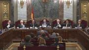 Der Prozess im Gerichtsgebäude in Madrid. (Bild: EPA/SPANISH SUMREME COURT)