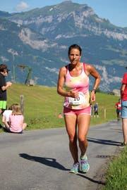 Bei den Frauen dominierte Lucia Hoffmann. Sie holte sich den Tagessieg bei der 37. Ausgabe des Haldi-Berglaufs. (Bild: PD)