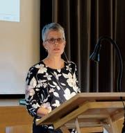 Gemeindepräsidentin Marianna Frei führt souverän durch die Gemeindeversammlung. (Bild: Thomas Brack)