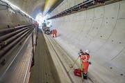 Eine Blüte des internationalen Beschaffungsrechts: Der Schweizer Baukonzern Implenia baut einen Tunnel in Frankreich. (Bild: Peter Hummel)