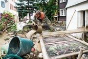 Der Zivilschutz soll künftig vorwiegend bei Katastrophen zum Einsatz kommen, wie beim Rheinhochwasser in Altstätten. (Bild: Ennio Leanza/Keystone (29. Juli 2014))