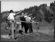 Mitglieder des Pistolenclubs Malters 1961 am Seewenalpschiessen.