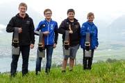 Die Sieger (von links) Renato Barmettler, Severin Barmettler, Dario Imhof, Vivian Ettlin. (Bild: PD)