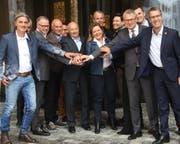 Sie trafen sich zum «Andermatt-Gipfel». (Bild: SBB)