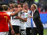 Nach Sieg gegen Spanien: Martina Voss-Tecklenburg kann mit Deutschland die WM-Achtelfinals planen (Bild: KEYSTONE/EPA/TOLGA BOZOGLU)
