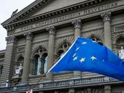 Der Ständerat verlangt vom Bundesrat substanzielle Verbesserungen beim institutionellen Abkommen mit der EU. (Bild: KEYSTONE/CHRISTIAN BEUTLER)