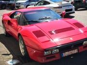 Der Wert des Ferrari 288 GTO, Baujahr 1985, wird auf mehr als zwei Millionen Euro geschätzt. (Bild: Keystone/EPA/DUESSELDORF POLICE / HANDOUT HAN)