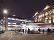 Die Schweizerische Nationalbank (SNB) attestiert den Grossbanken UBS und CS, dass sie für Krisenzeiten besser gewappnet sind als noch vor einem Jahr. Trotzdem sieht sie noch weiteren Handlungsbedarf. (Bild: KEYSTONE/GAETAN BALLY)