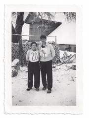 Die Begründerin des Skiclubs: Käthi Bürgler mit ihrem Mann.