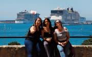 1,75 Millionen Touristen sollen Palma 2019 allein von Kreuzfahrtschiffen aus besuchen. (Bild: Clara Margais/DPA/Keystone (11. Mai 2019))
