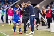 FCL-Trainer Thomas Häberli setzte nur selten auf die Dienste von Francisco Rodriguez. (Bild: Philipp Schmidli, Luzern, 23. April 2019)