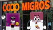 Coop hat die Kaffeekapseln der Migros kopiert. (Bilder: Keystone / zgv, Montage: edi)